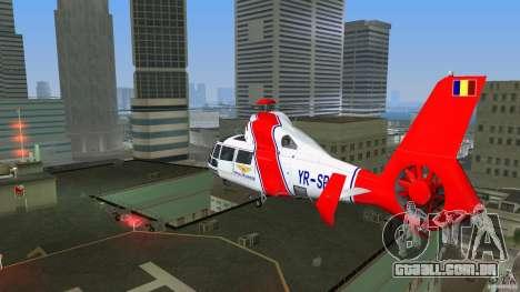 Eurocopter As-365N Dauphin II para GTA Vice City vista traseira