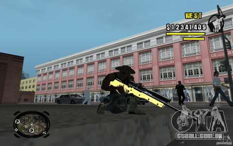 Gold Weapon Pack v 2.1 para GTA San Andreas quinto tela