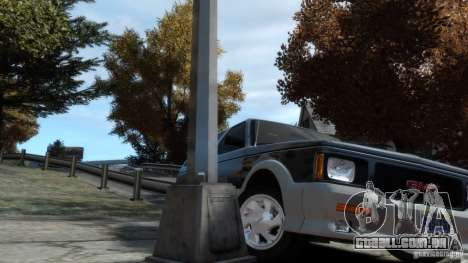 GMC Typhoon 1993 v1.0 para GTA 4 vista interior