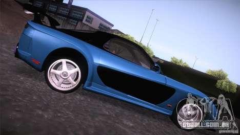 Mazda RX-7 Veilside v3 para GTA San Andreas traseira esquerda vista