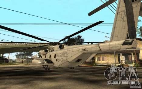 CH 53E para GTA San Andreas traseira esquerda vista