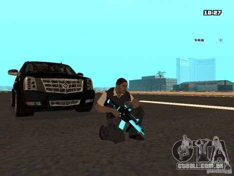 Black & Blue guns para GTA San Andreas terceira tela