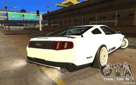Shelby Mustang 1000 2012 para GTA San Andreas esquerda vista