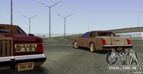 Virgo Continental para GTA San Andreas vista interior
