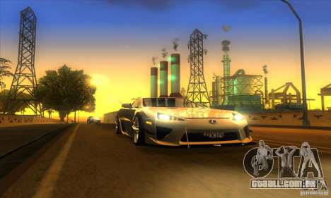 ENB Graphics by KINOman para GTA San Andreas quinto tela
