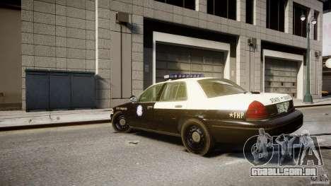 Ford Crown Victoria Fl Highway Patrol Units ELS para GTA 4 traseira esquerda vista