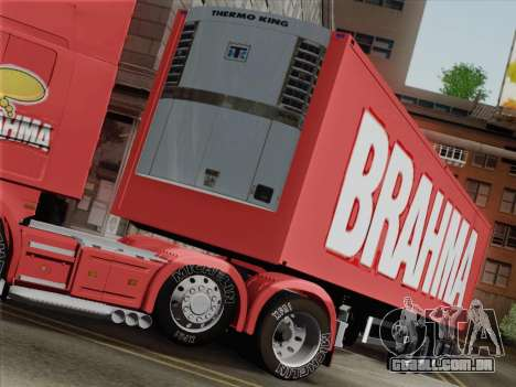 Trailer de Scania R620 Brahma para vista lateral GTA San Andreas