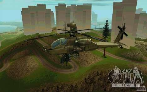 Apache AH64D Longbow para GTA San Andreas vista superior