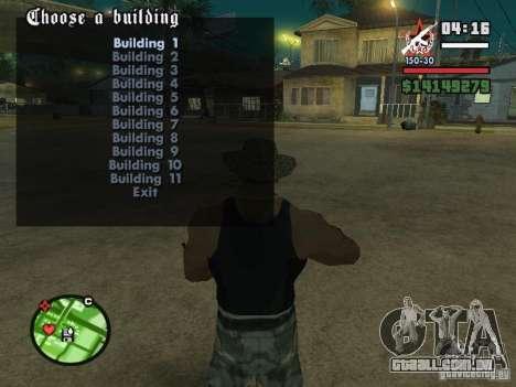 Construção de casas 2 para GTA San Andreas terceira tela