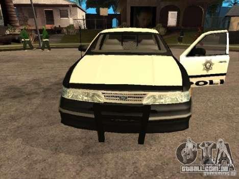Ford Crown Victoria 1994 Police para GTA San Andreas vista direita