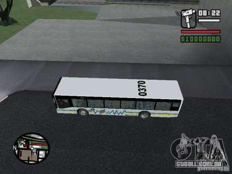Onibus para GTA San Andreas traseira esquerda vista