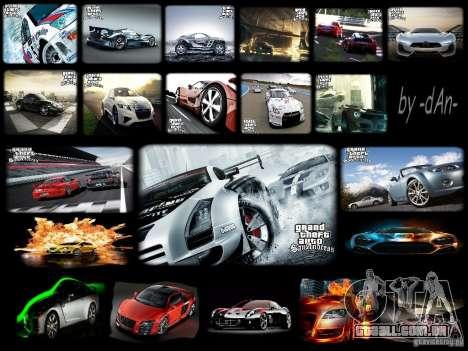 Telas de carregamento novo-carro legal para GTA San Andreas