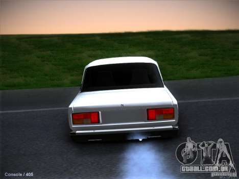 2105 Vaz estoque qualidade para GTA San Andreas interior