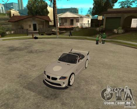 BMW Z4 Supreme Pimp TUNING volume II para GTA San Andreas esquerda vista