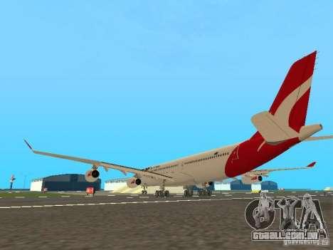 Airbus A340-300 Qantas Airlines para GTA San Andreas vista direita