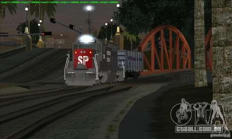 Aumento de transporte de trens para GTA San Andreas
