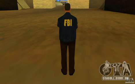 HQ skin FBI para GTA San Andreas por diante tela
