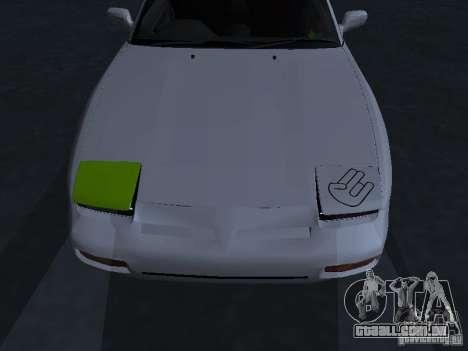 Nissan 180SX JDM para vista lateral GTA San Andreas