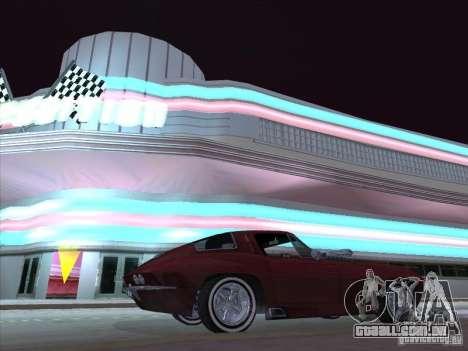 Chevrolet Corvette Big Muscle para GTA San Andreas traseira esquerda vista