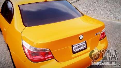 BMW M5 E60 para GTA 4 vista superior