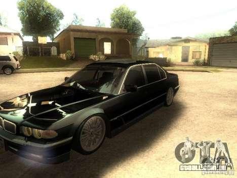 BMW 750iL para GTA San Andreas vista interior
