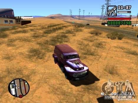 49 Ford HR Van para GTA San Andreas vista direita
