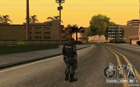 Pele SWAT para GTA San Andreas segunda tela