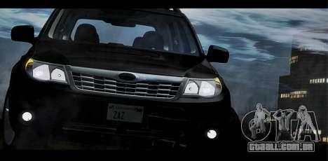 Subaru Forester XT 2008 para GTA San Andreas vista superior