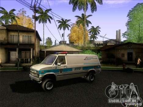 Chevrolet VAN G20 NYPD SWAT para GTA San Andreas esquerda vista