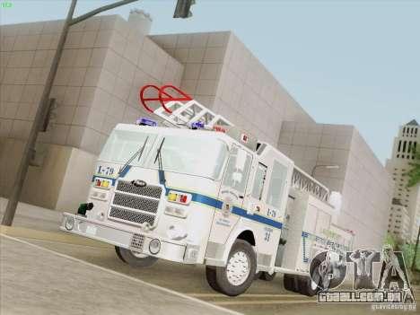 Pierce Puc Aerials. Bone County Fire & Ladder 79 para GTA San Andreas traseira esquerda vista