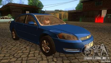 Chevrolet Impala para GTA San Andreas vista traseira