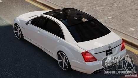 Mercedes-Benz S65 W221 AMG Vossen para GTA 4