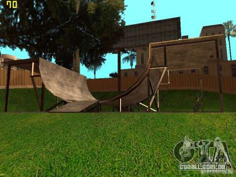 New SkatePark v2 para GTA San Andreas por diante tela
