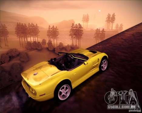 Shelby Series One 1998 para vista lateral GTA San Andreas