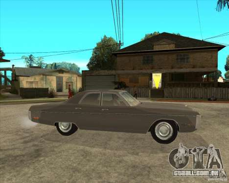 1972 Plymouth Fury III Stock para GTA San Andreas vista direita