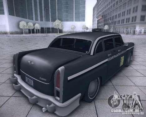 Diablo Cabbie HD para GTA San Andreas traseira esquerda vista