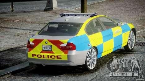 BMW 350i Indonesian Police Car [ELS] para GTA 4 traseira esquerda vista