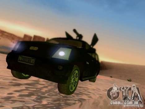 Suv Call Of Duty Modern Warfare 3 para GTA San Andreas vista traseira