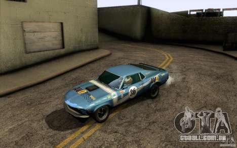 Ford Mustang Boss 302 para o motor de GTA San Andreas
