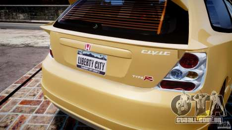 Honda Civic Type R 2005 para GTA 4 rodas