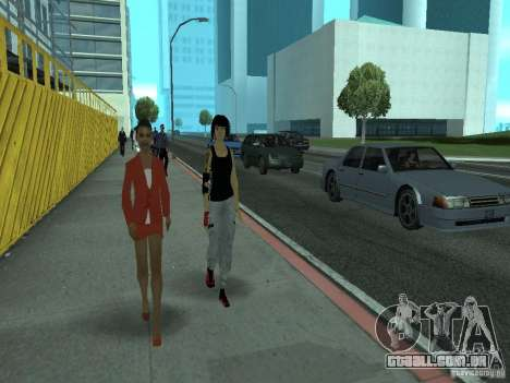 Mirrors Edge Faith para GTA San Andreas terceira tela