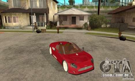 Spyker C8 Spyder para GTA San Andreas vista traseira