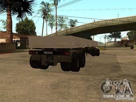 KAMAZ 55111 para GTA San Andreas esquerda vista
