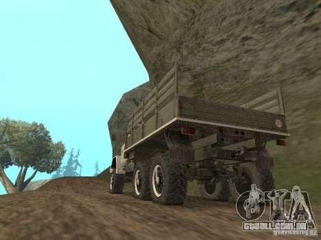 ZIL 131 Main para GTA San Andreas traseira esquerda vista