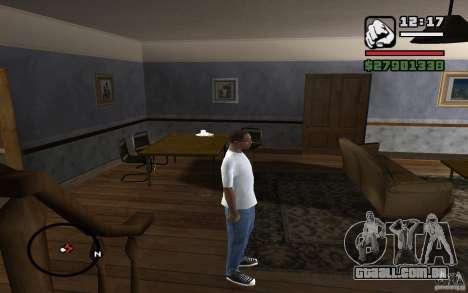 Calça jeans skinny para GTA San Andreas por diante tela