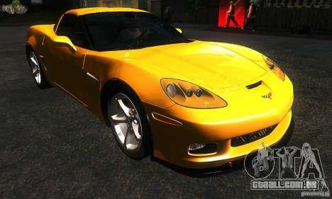 Chevrolet Corvette Grand Sport 2010 para GTA San Andreas vista traseira