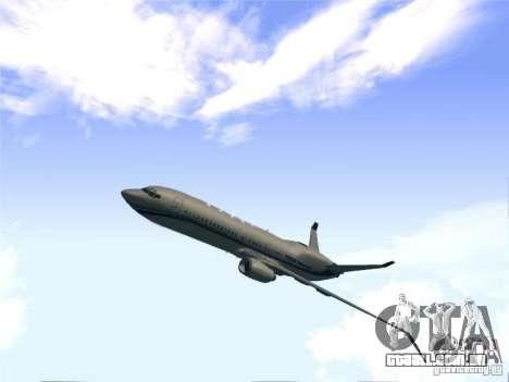 Boeing 737 Iron Man Bussines Jet para GTA San Andreas traseira esquerda vista