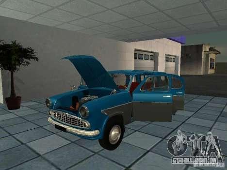 Moskvitch 423 para GTA San Andreas vista traseira