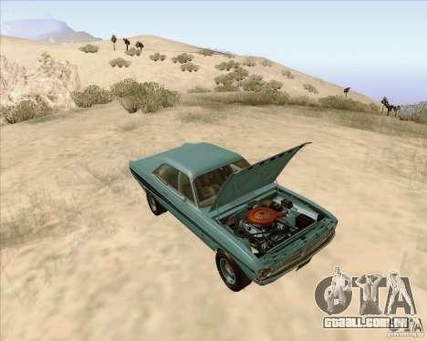 Dodge Demon 1971 para GTA San Andreas vista traseira