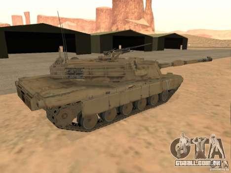 Abrams M1A2 para GTA San Andreas esquerda vista